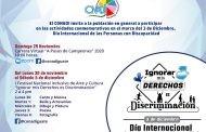 PROMUEVEN ACTIVIDADES CONMEMORATIVAS AL DÍA INTERNACIONAL DE LAS PERSONAS CON DISCAPACIDAD