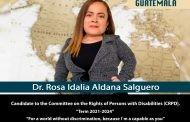 Dra. Rosa Idalia Aldana es electa como representante del Estado de Guatemala al Comité Sobre los Derechos de las Personas con Discapacidad