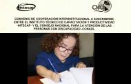FIRMAN CONVENIO PARA GARANTIZAR EL ACCESO A PROGRAMAS DE FORMACIÓN A PERSONAS CON DISCAPACIDAD
