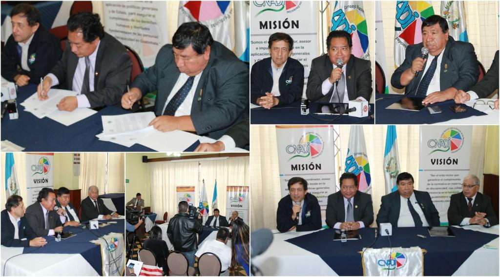 El CONADI y Cronistas Deportivos Guatemaltecos suscriben carta de entendimiento