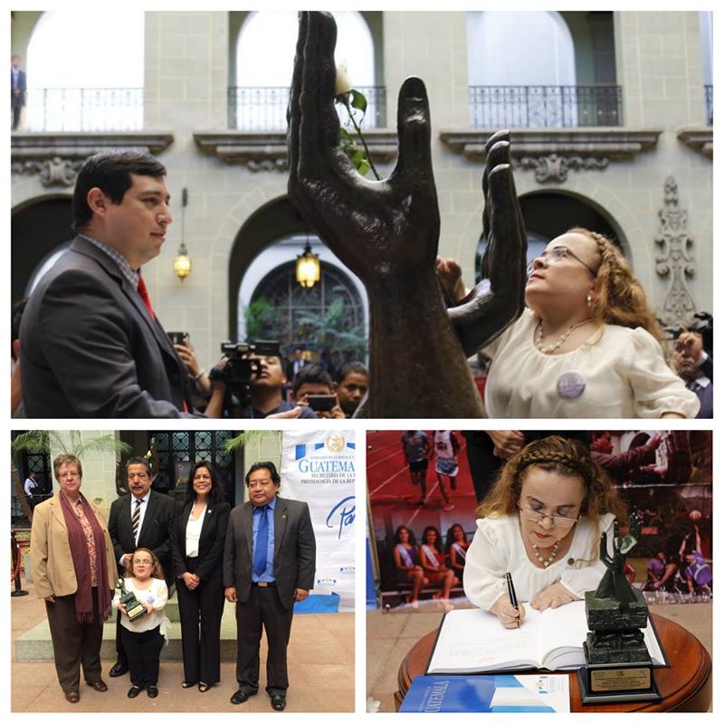 Nombran embajadora de la paz, a Rosa Idalia Aldana, activista de derechos humanos