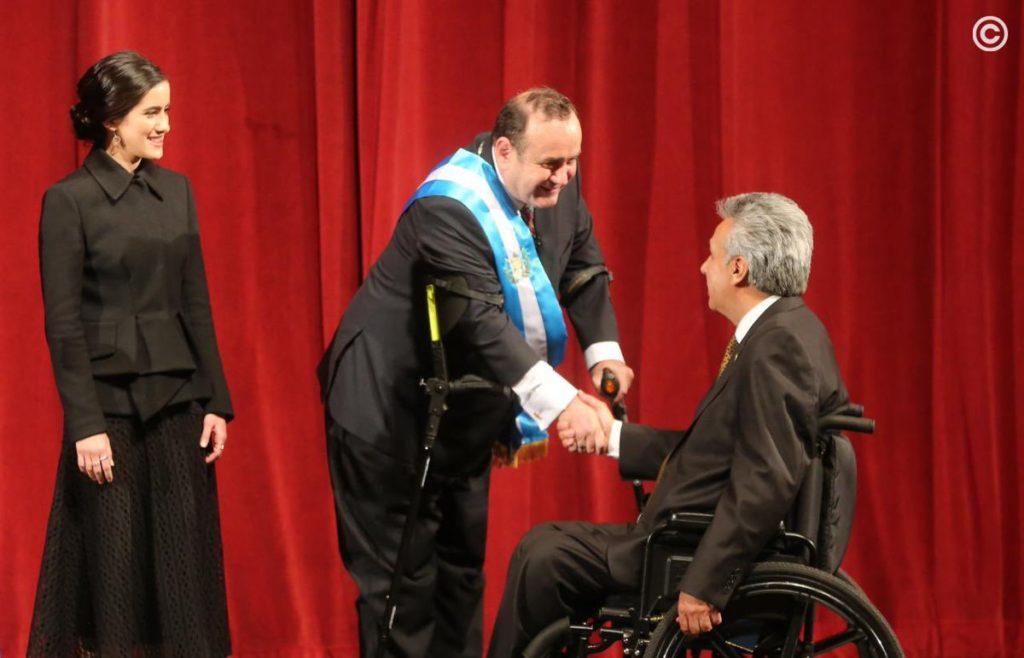 Alejandro Giammattei y Lenín Moreno