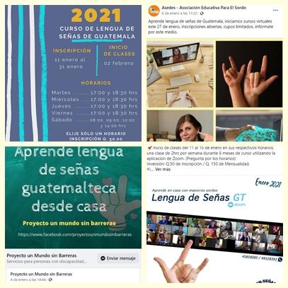 Curso Lengua de Señas de Guatemala